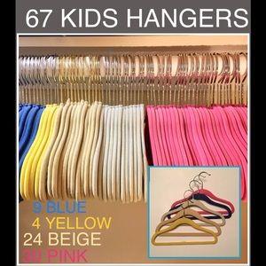 Other - 67 Kids Slim Fit Velvet Hangers